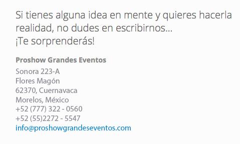 eventos y convenciones